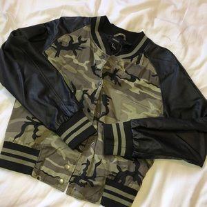 Forever 21 Camo bomber jacket